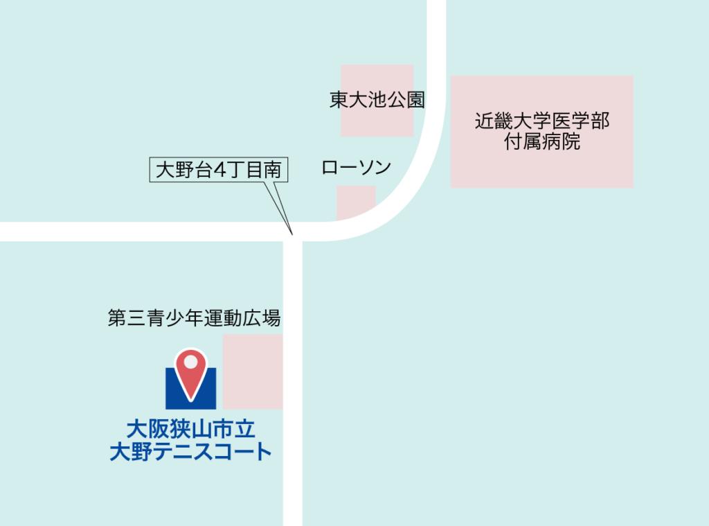 大阪狭山市立大野テニスコート 地図